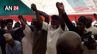 NO MORE WAR: AMBODE OFFICIALLY ENDORSES BABAJIDE SANWO-OLU FOR GOVERNOR