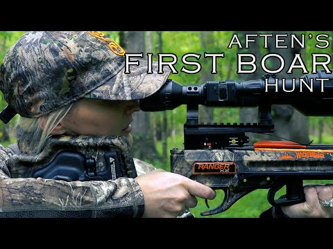 Aften's FIRST BOAR HUNT! NIGHT VISION CROSSBOW Pig Hunt! Doubled on my birthday! CATCH CLEAN COOK!