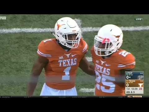 UTEP Miners vs Texas Longhorns football 2016 Week 2
