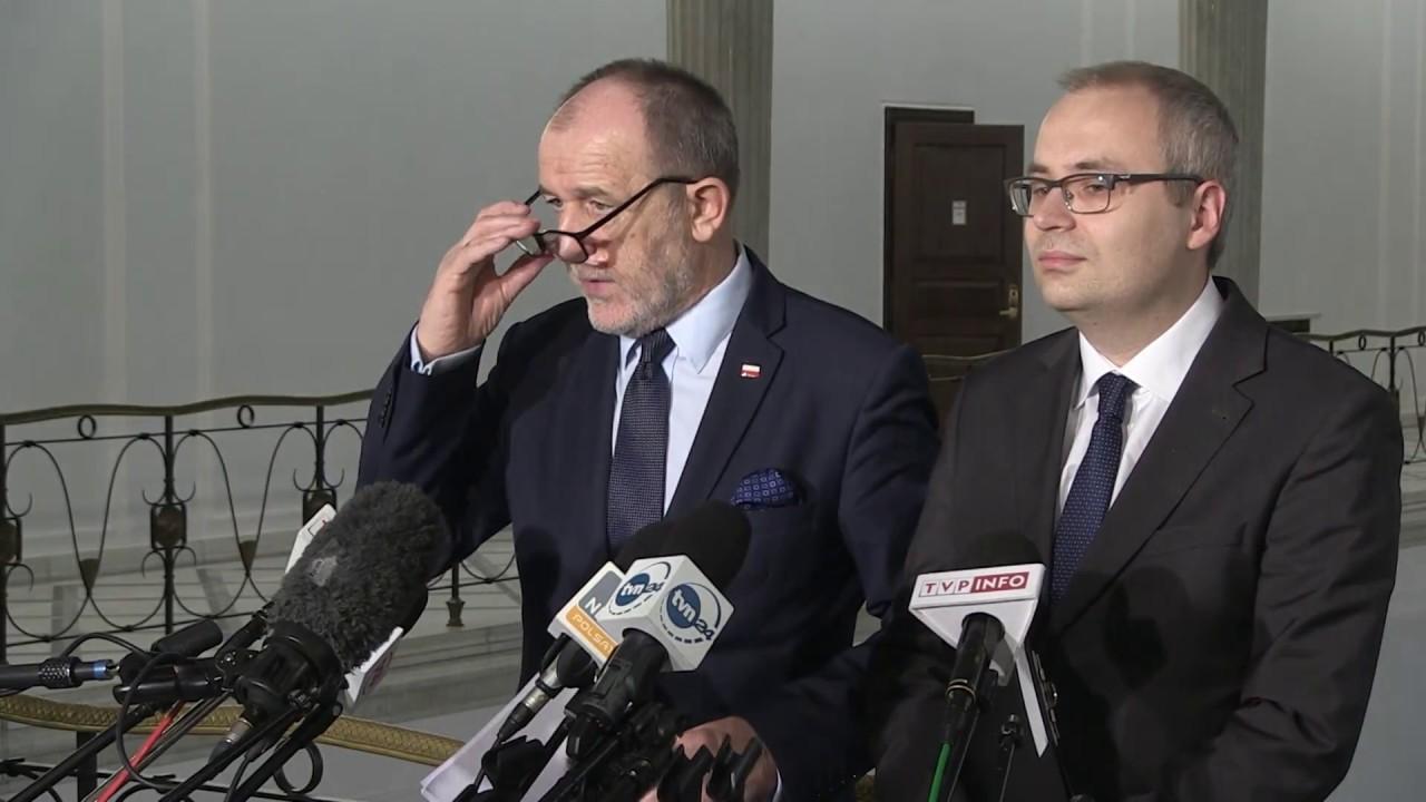 Jan Mosiński – Konferencja prasowa Posła PiS w Sejmie