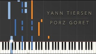 Yann Tiersen - Porz Goret \\ Synthesia Piano Tutorial