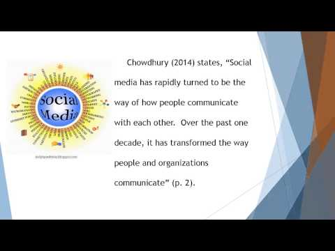 How Social Media Influences Interpersonal Communication In Today's Global Society  M Sanders Video C
