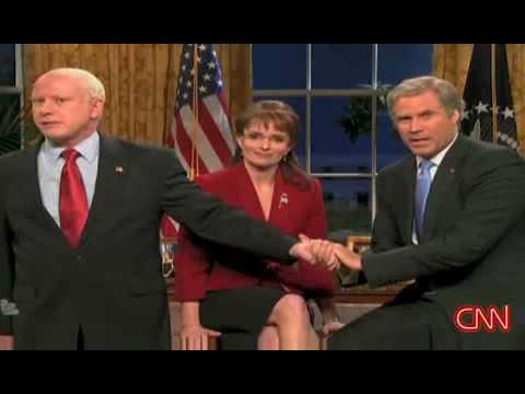 Saturday Night Live SNL Will Ferrell as Bush endorses McCain   www.RentFree4Life.com
