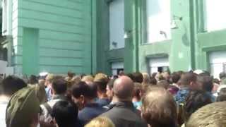 Вход в метро Белорусская 9 мая 2015