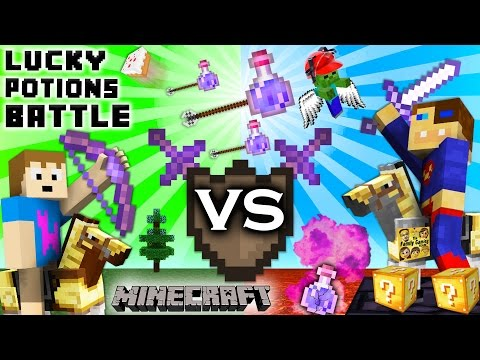 MINECRAFT Lucky Potions & Weapons Battle!  FGTEEV Duddy Vs. Chase Arena (Lucky Blocks Update)