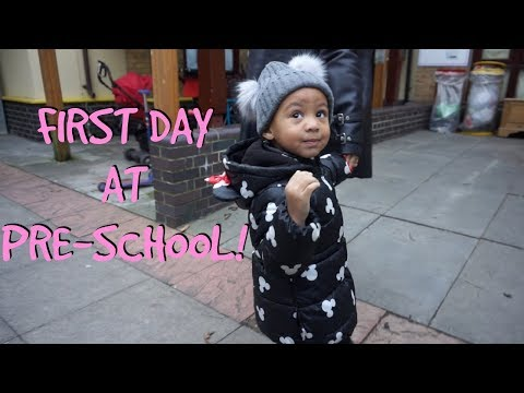 CALI'S FIRST DAY AT PRE-SCHOOL!