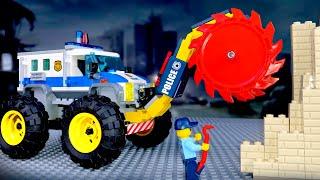 LEGO Police Car 🔴 Monster Trucks 🚓