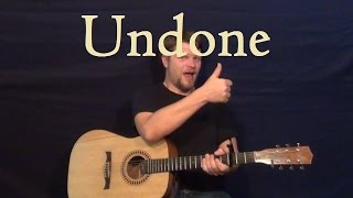 Undone - The Sweater Song (Weezer) Easy Strum Chord How to Play Guitar Lesson G C D