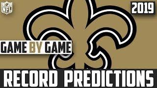 2019 NFL Record Predictions - New Orleans Saints Record Prediction 2019