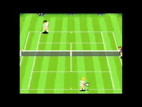 Super Tennis SNES Ending Gameplay Super Nintendo