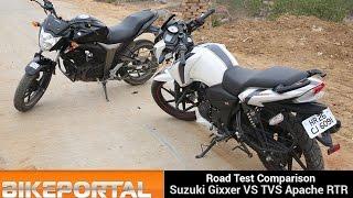 Suzuki Gixxer Vs TVS Apache RTR 160 - Bikeportal