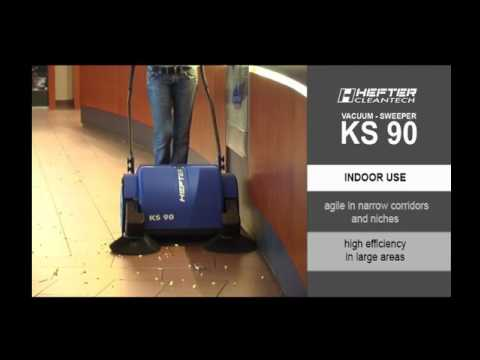 Walk behind sweeper battery operated KS90 HEFTER cleantech