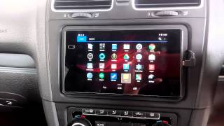 nexus7 golf gti mk6 install with steering wheel control