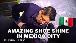 Amazing shoe shine in México city/lustrada de zapatos asombrosa en ciudad de México