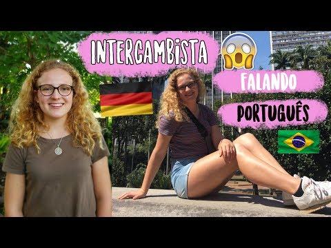 ALEMÃ falando PORTUGUÊS  Intercâmbio no Brasil🇧🇷😍 Leonie4ever