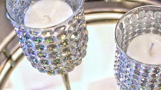 DIY Crystal Candle Holders - Luxe Home Decor For Less