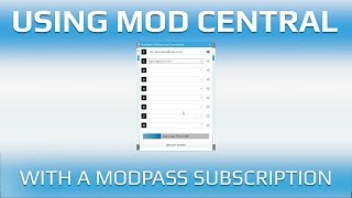 Using Mod Central with Mod Pass