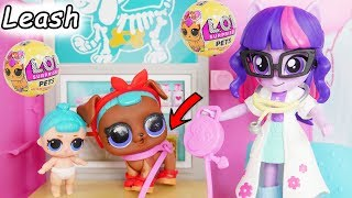 LOL Surprise Dolls Lil Sisters take Pet to the Barbie Vet