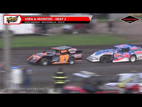 A-Modified Heats/Feature - Rapid Speedway - 7/23/19