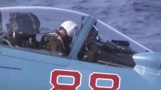 «Адмирал Кузнецов»  на боевом задании  Палубная авиация в действии