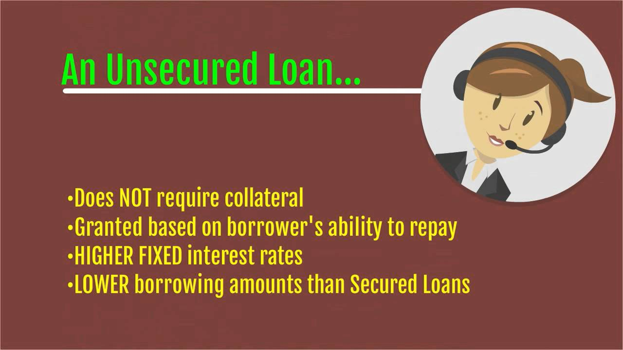 Secured vs Unsecured Loans - YouTube
