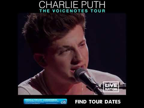 Charlie Puth The Voicenotes Tour 2018