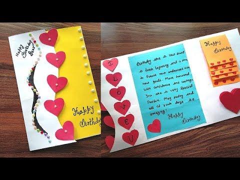 Diy Beautiful Birthday Greeting Card Idea Special Birthday Card For Best Friend Gift Idea Youtube