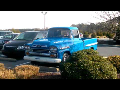 58 Chevy Pickup in Pristine Condition!!  At McDonalds!!  Antique Collector Chevrolet