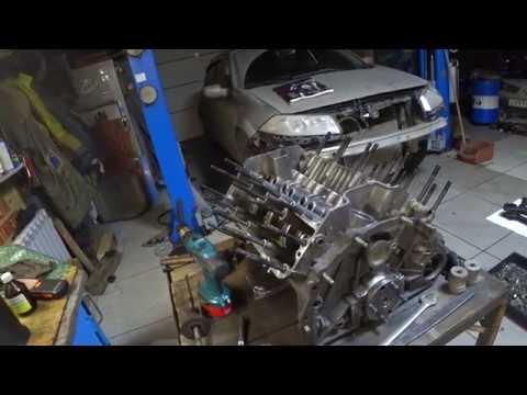 Начало сборки двигателя ГАЗ 66.