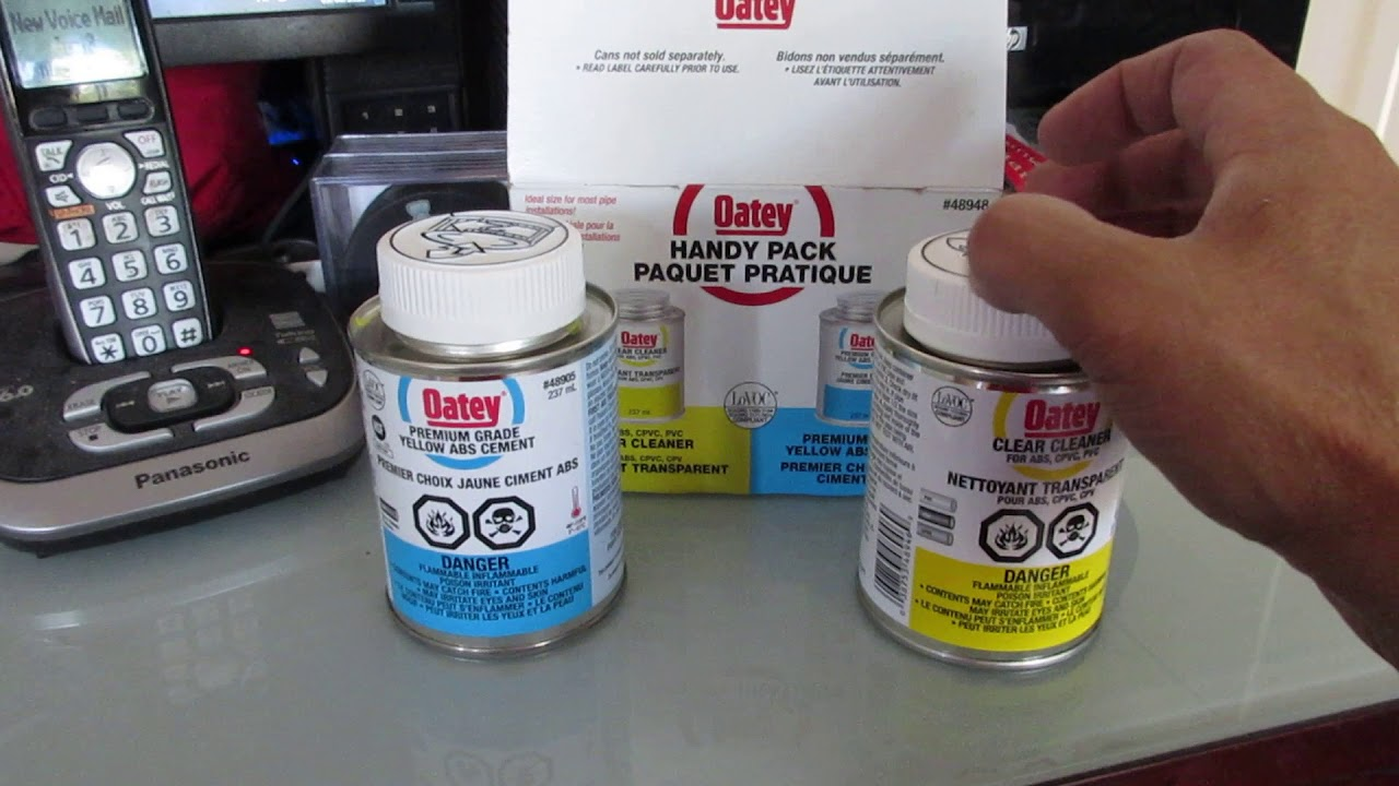 Abs Glue How To Open A New Pack Of Oatey Cleaner And Abs Cement Glue