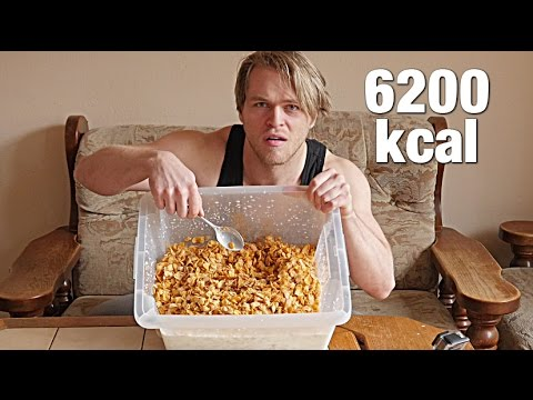 1KG CORNFLAKES CATERING PACK CHALLENGE (6200KCAL) | [Epic Cheat Meal]