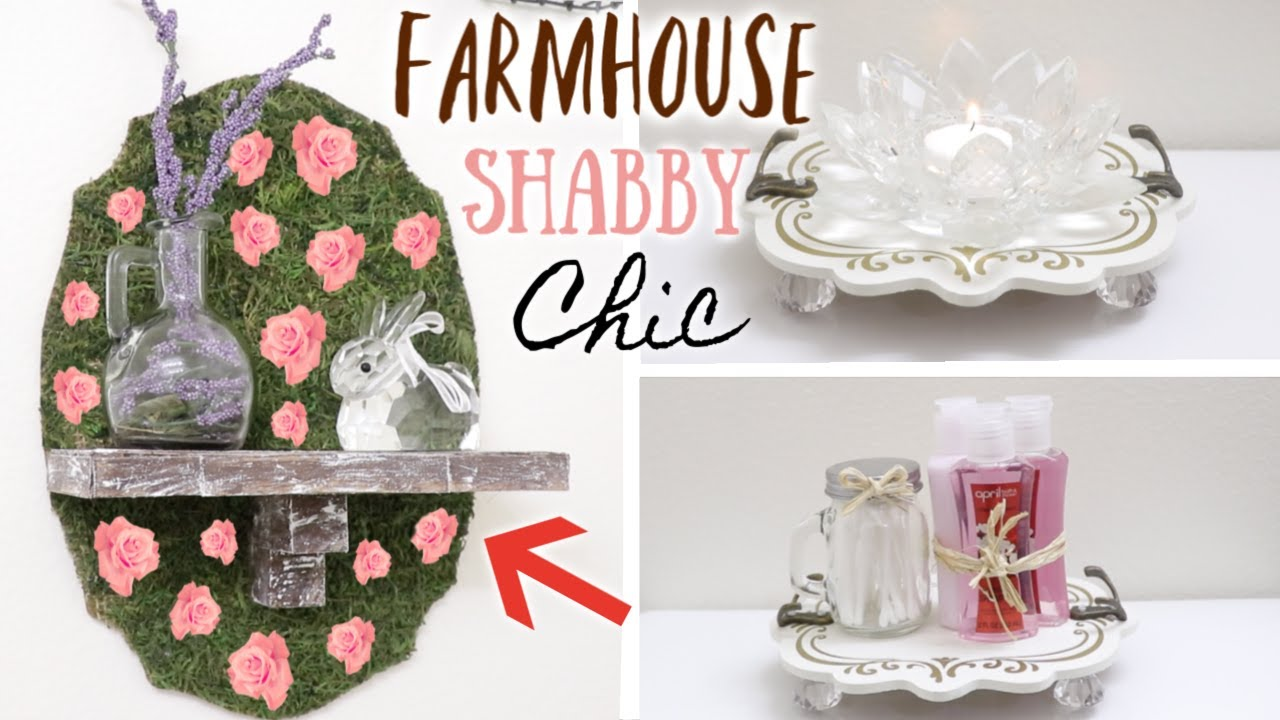 DIY DOLLAR TREE FARMHOUSE SHABBY CHIC BATHROOM DECOR! 4