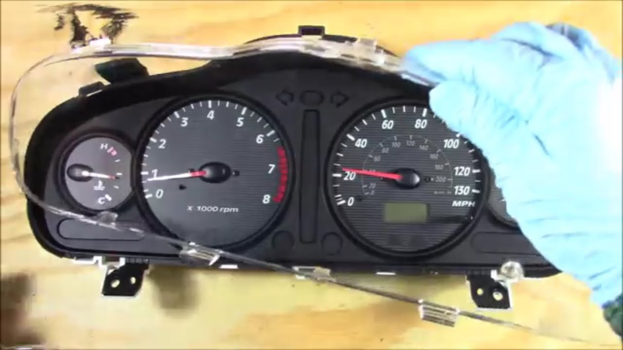 Broken Instrument Cluster Glass Removal Replace And Install Mk4 Jetta Radio Wiring Overview 2003 00 04 Hyundai Santa Fe