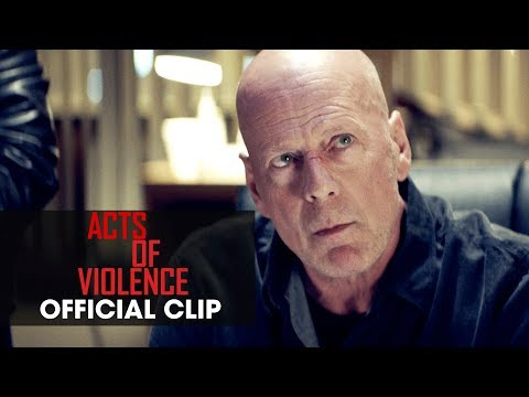 """Acts of Violence (2018 Movie) Official Clip """"Good News"""" - Bruce Willis"""