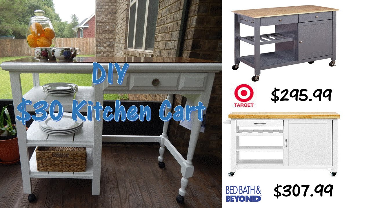 DIY $30 Outdoor Kitchen Cart   YouTube