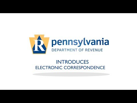 PA Department of Revenue Introducing Electronic Correspondence