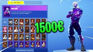 MON CASIER +1500€ DE SKINS sur FORTNITE BATTLE ROYALE...