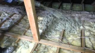 Attic insulation pumped wool