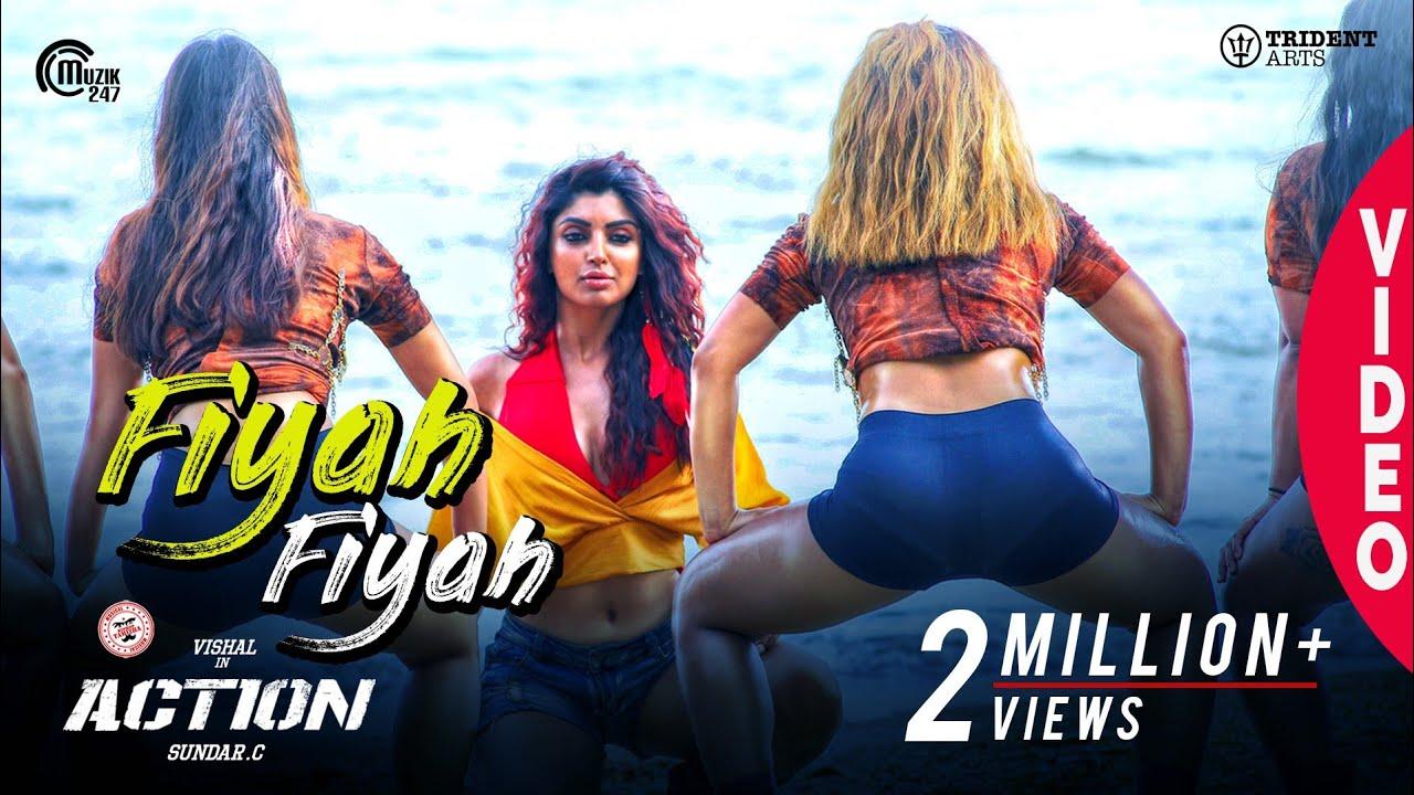 Download Action   Fiyah Fiyah Video Song   Vishal, Akanksha Puri   Hiphop Tamizha   Navz-47   Sundar.C