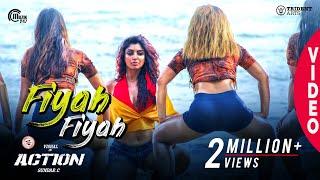 Action  Fiyah Fiyah Video Song  Vishal Akanksha Puri  Hiphop Tamizha  Navz-47  SundarC