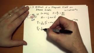6.1.3 Effect of a Magnetic Field on Atomic Orbits