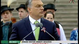 Orbán Viktor ünnepi beszéde március 15-én
