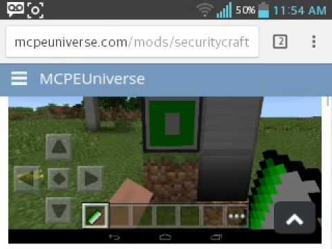 security craft mod minecraft pe