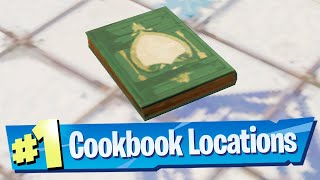 Collect Cookbooks from Pleasant Park and Craggy Cliffs Location - Fortnite