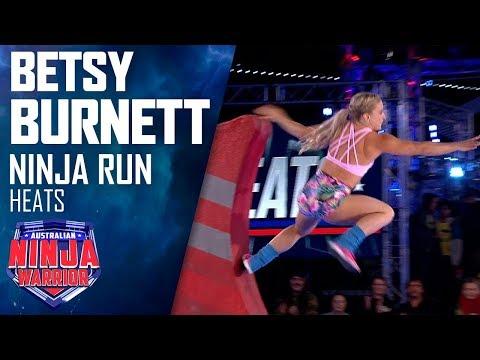 Betsy Burnett crashes out of the competition   Australian Ninja Warrior 2019
