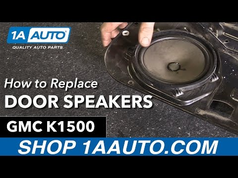 How to Replace Install Door Speakers 1996 GMC Sierra K1500
