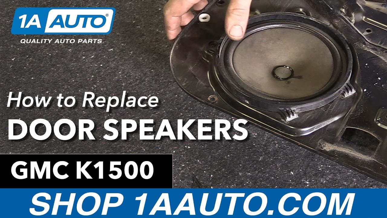 hight resolution of how to replace door speakers 88 98 gmc k1500