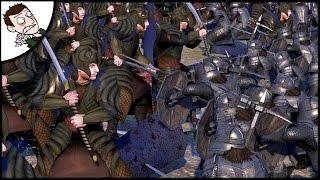 Glory To The Elves! Rise of Mordor Total War - Elves v Dwarf Siege Battle Gameplay!