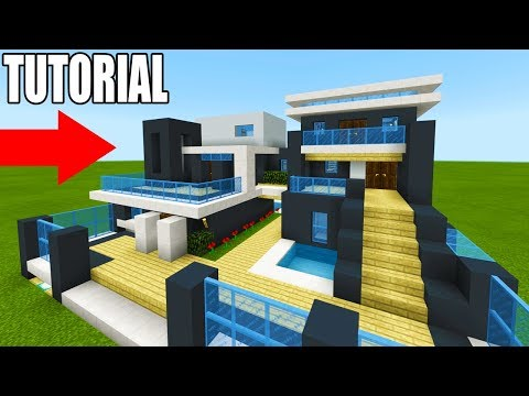"Minecraft Tutorial: How To Make A The Ultimate Modern House 2019 ""2019 Modern House Tutorial"""