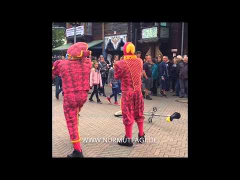 Clowns verarscht die Besucher in Europa Park  2015 ( ver arsch )